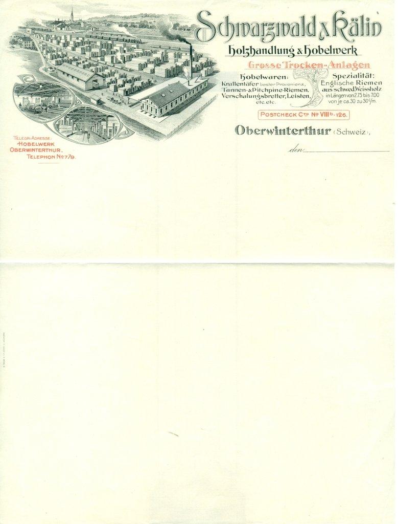 1920) oberwinterthur (kt. zÜrich/pk viii). schwarzwald & kälin