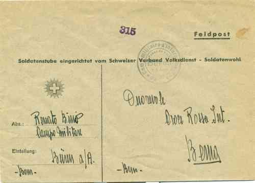 Losone Ti Internamento Militare Swizzera Franco Di Porto Brief